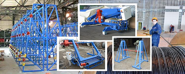 Оборудование для перемотки кабеля, намотки, отмотки, измерения длины, мерной резки, складирования кабеля, каната, рулонных материалов. Производство и проектирование.